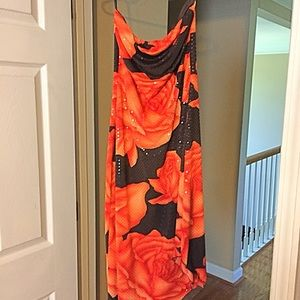 Strapless sexy dress from cache